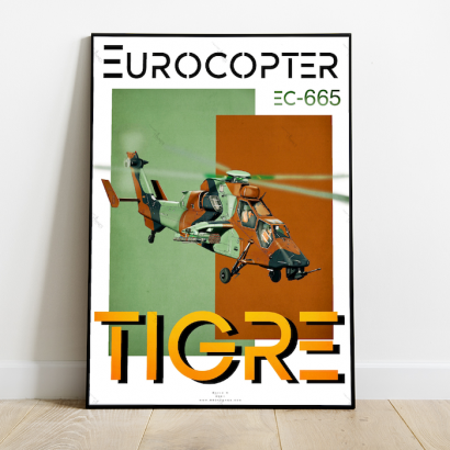 """Poster helicopter """"Tigre"""" Eurocopter"""