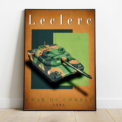 "Poster ""Leclerc"" french army tank"