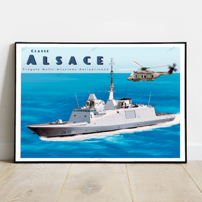 Poster of the furtive french frigate Alsace class (FREMM)
