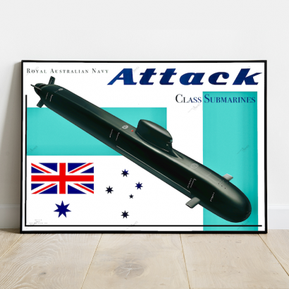 Affiche poster sous-marin Classe Attack