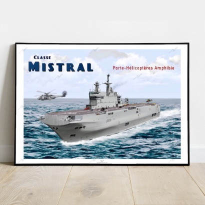 Affiche Poster PHA classe Mistral