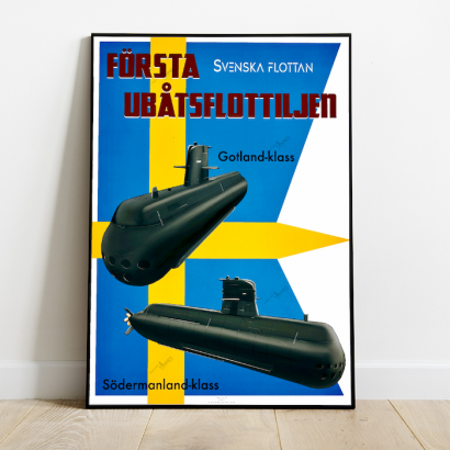 Poster submarine Gotland and Sodermanland Class