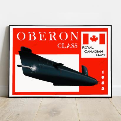 Poster submarine Oberon class Royal Canadian Navy