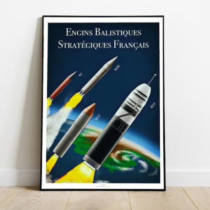 Affiche Poster missiles balistiques Français