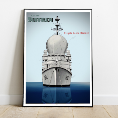 Poster of the french frigate Suffren class