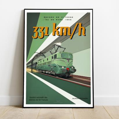 Affiche Poster Record de vitesse 1955