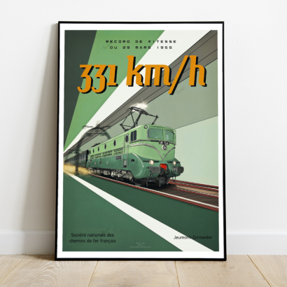 Poster French speed record 1955 BB9004