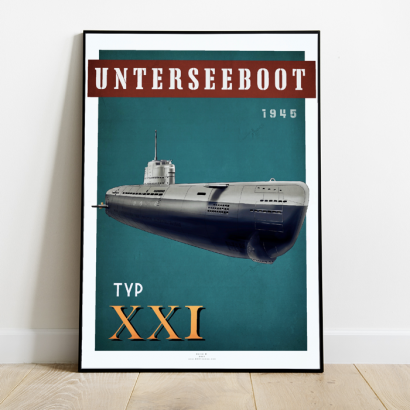 Affiche poster sous-marin Type XXI