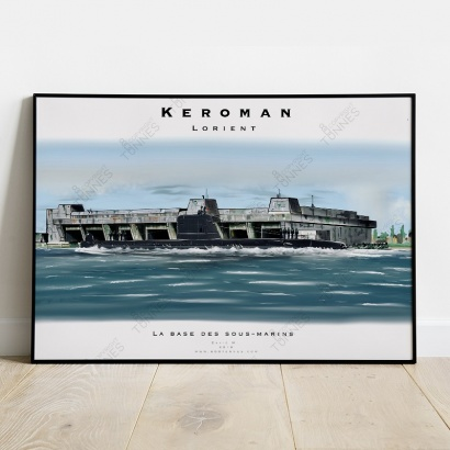 "Poster submarine ""Daphné"" Keroman Naval base"