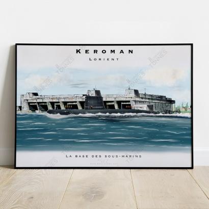 "Poster submarine ""Agosta"" Keroman Naval base"