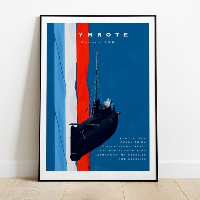 Affiche Poster sous-marin Gymnote